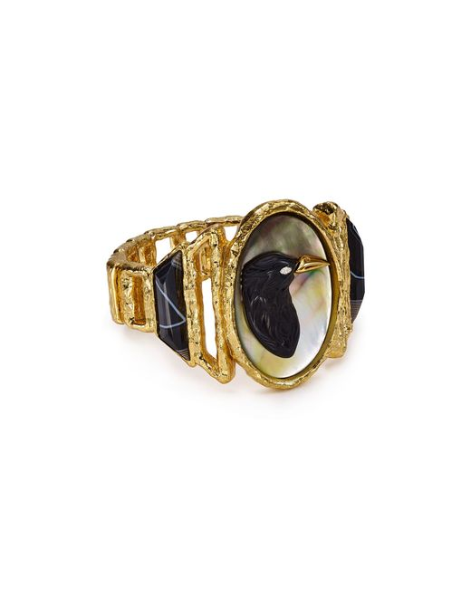 Alexis Bittar | Black Elements Hand-carved Raven Cameo Cuff | Lyst