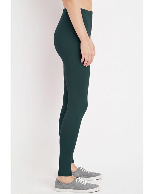 Forever 21 | Green Nylon-blend Leggings | Lyst