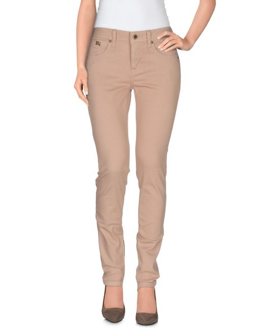 Burberry Brit Denim Pants In Pink (Skin Color) - Save 26% | Lyst
