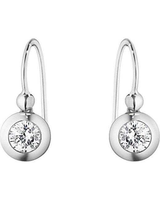 Georg Jensen | Metallic Aurora 18ct White-gold And Diamond Hook Drop Earrings | Lyst