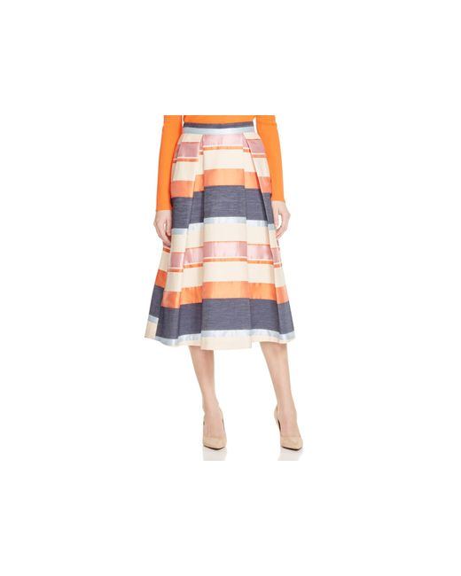 Whistles | Multicolor Striped Jacquard Midi Skirt - 100% Bloomingdale's Exclusive | Lyst