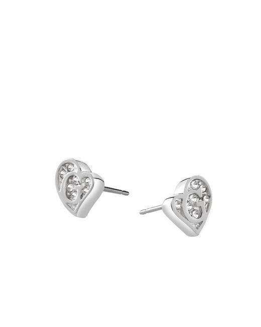 Guess | Metallic G Hearts Earrings | Lyst
