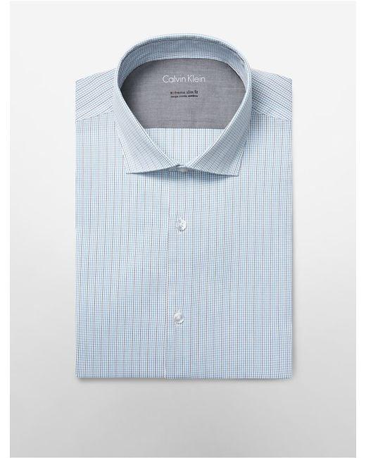 Calvin klein white label x fit ultra slim fit textured for Calvin klein x fit dress shirt