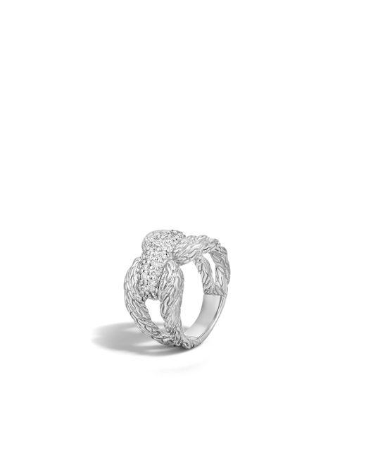 John Hardy | Metallic Classic Chain Ring With Diamonds | Lyst