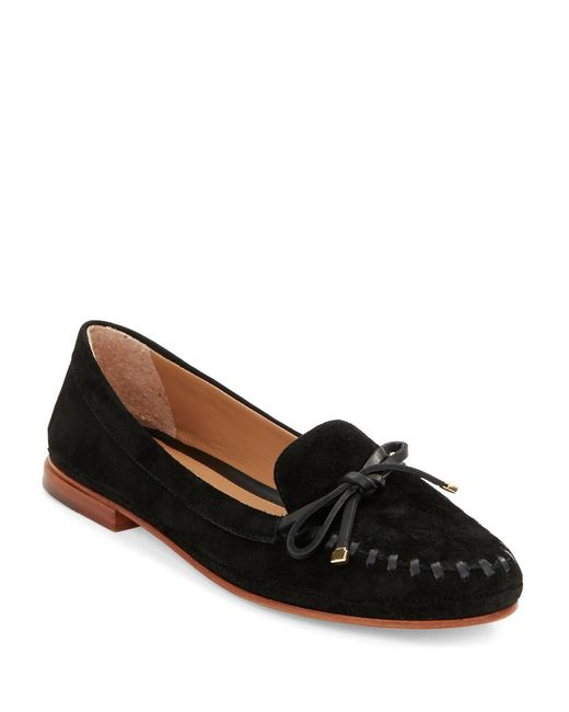 Vince Camuto Signature | Black Lamont Suede Loafers | Lyst
