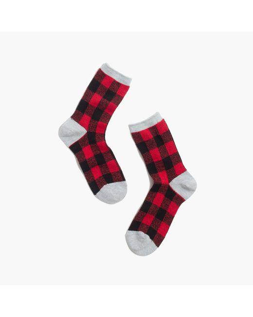 Madewell | Black Buffalo Check Trouser Socks | Lyst