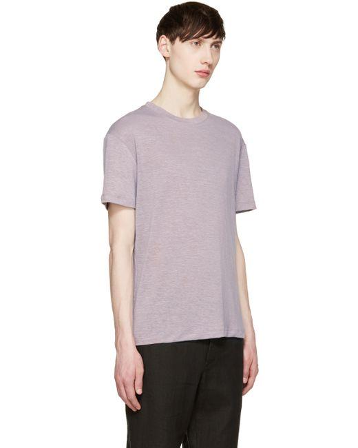 Fanmail purple hemp t shirt in purple for men save 46 for Mens hemp t shirts