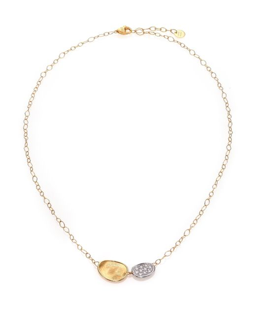 Marco Bicego | Metallic Lunaria Diamond & 18k Yellow Gold Necklace | Lyst