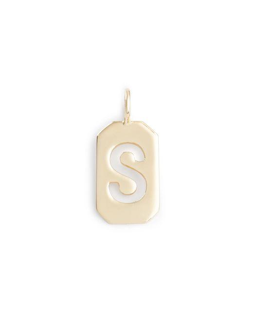 J.Crew | Metallic Jennifer Fisher 10k Gold Octagon Letter Tag | Lyst
