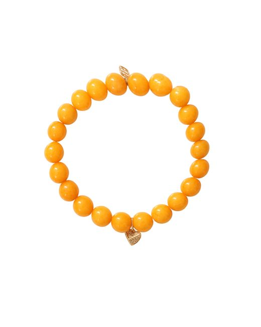 Sydney Evan | Yellow Pyramid Heart Beaded Bracelet | Lyst