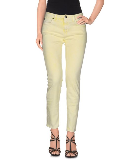 MAX&Co. | Yellow Denim Trousers | Lyst