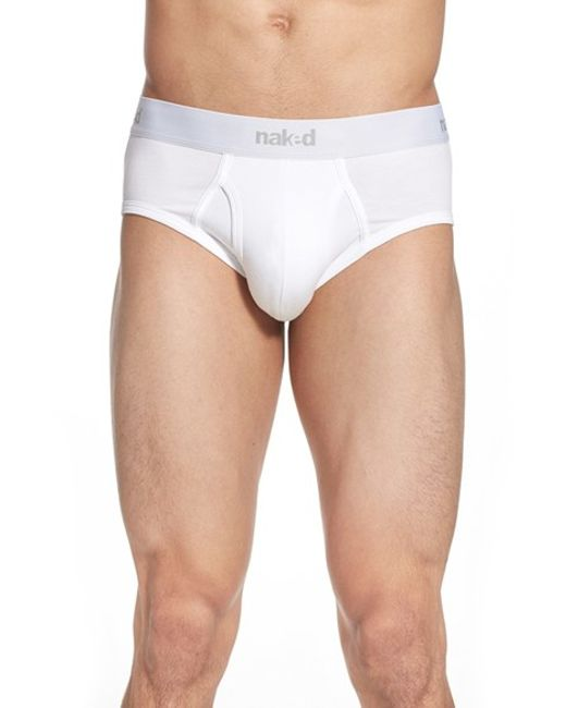 Naked | Essential 2-pack Stretch Cotton Briefs, White for Men | Lyst