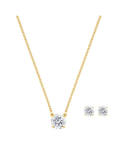 Swarovski | Metallic Attract Set Round | Lyst