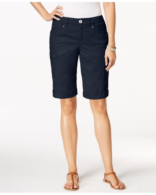 Style & Co. | Blue Petite Cargo Shorts, Only At Macy's | Lyst