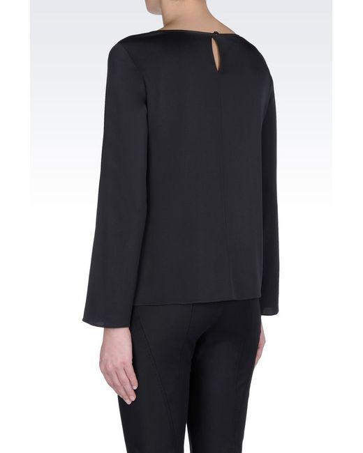 Armani | Gray Silk Blouse | Lyst