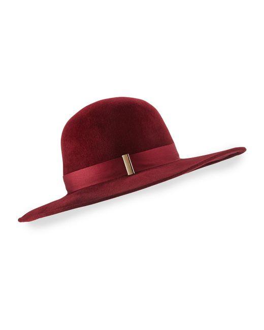 Gigi Burris Millinery | Red Kyleigh Hand-blocked Wide-brim Hat | Lyst