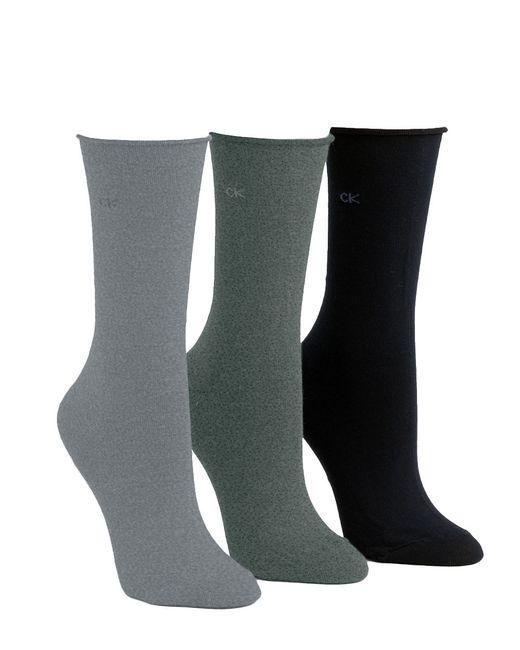 Calvin Klein | Gray Roll Top Socks | Lyst