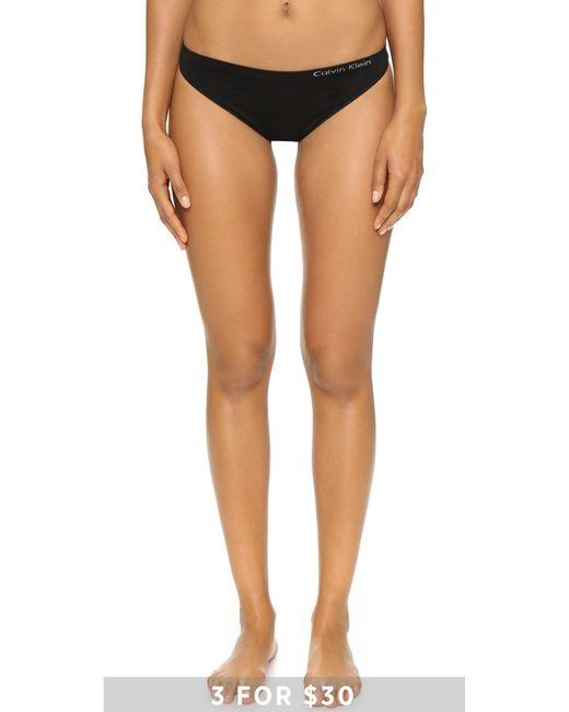Calvin Klein | Black Pure Seamless Thong | Lyst