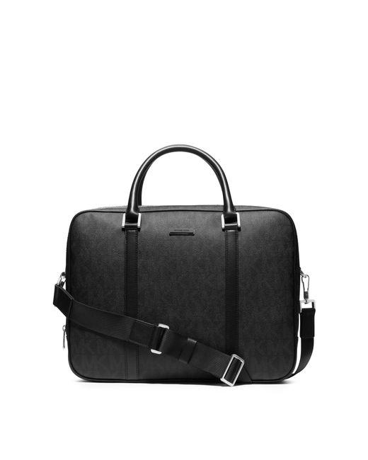 Michael Kors | Black Jet Set Travel Large Logo Briefcase for Men | Lyst