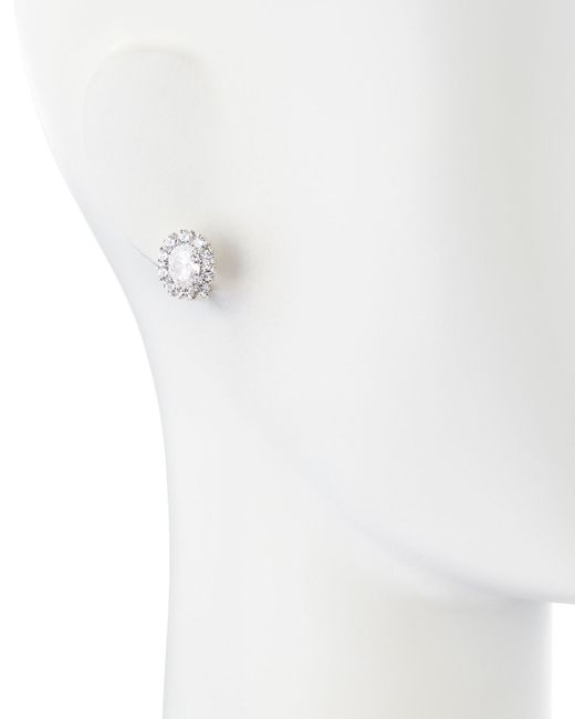Fantasia by Deserio | White Oval-cut Cubic Zirconia Stud Earrings | Lyst