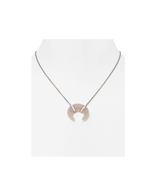 "Chan Luu | Metallic Agate Horn Pendant Necklace, 16"" | Lyst"