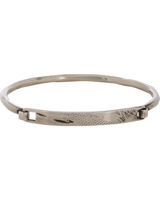 Werkstatt:münchen   Metallic Silver Distressed Id Plate Bracelet for Men   Lyst