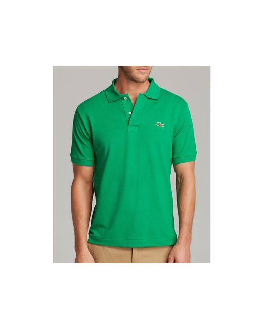 Lacoste | Green Short Sleeve Piqué Polo Shirt - Classic Fit for Men | Lyst