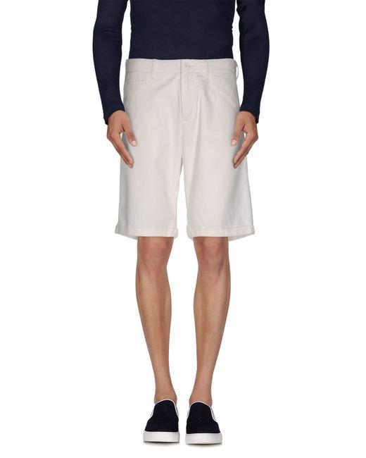 Woolrich | White Bermuda for Men | Lyst