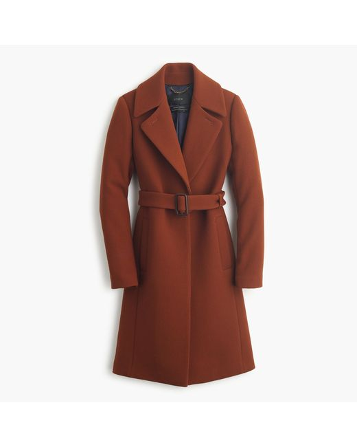 J.Crew | Brown Petite Double-cloth Belted Trench Coat | Lyst