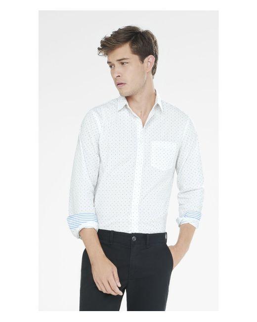 Express | White Soft Wash Micro Print Shirt for Men | Lyst