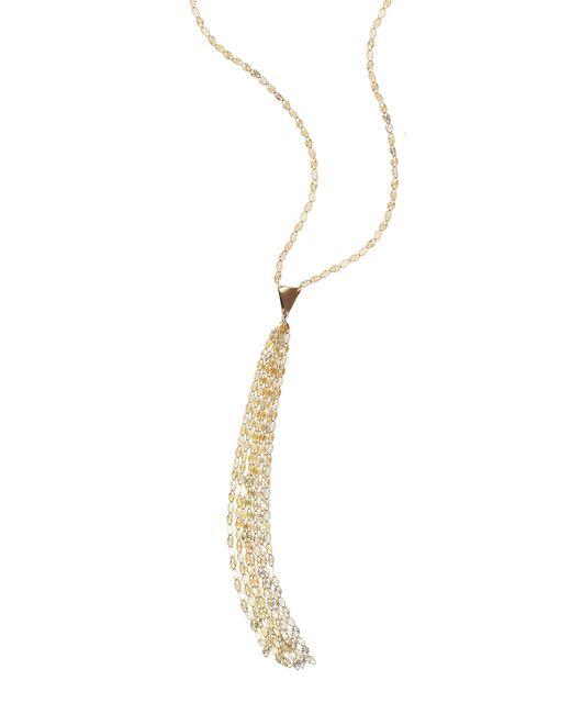 Lana Jewelry | Metallic 14k Petite Tassel Necklace | Lyst