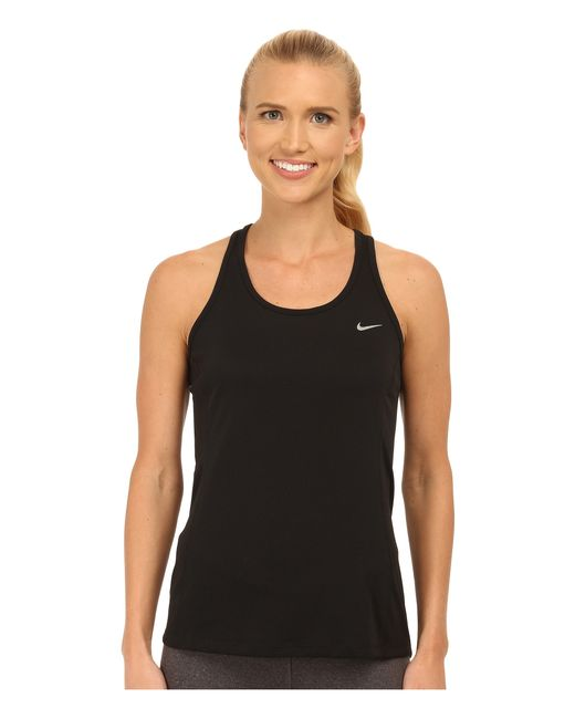 Nike | Metallic Dri-fit™ Contour Tank Top | Lyst