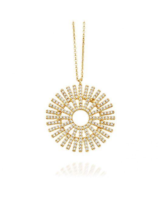 Astley Clarke | Metallic Rising Sun Lattice Diamond Pendant | Lyst