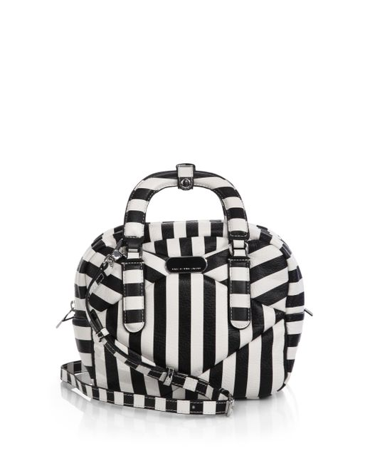 Marc By Marc Jacobs | White Turn Around Small Striped Shoulder Bag | Lyst