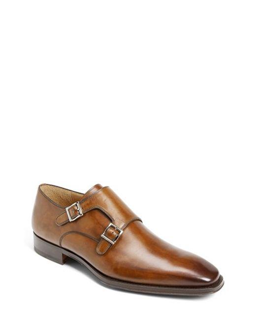 Saks Fifth Avenue | Brown 'miro' Double Monk Strap Shoe for Men | Lyst