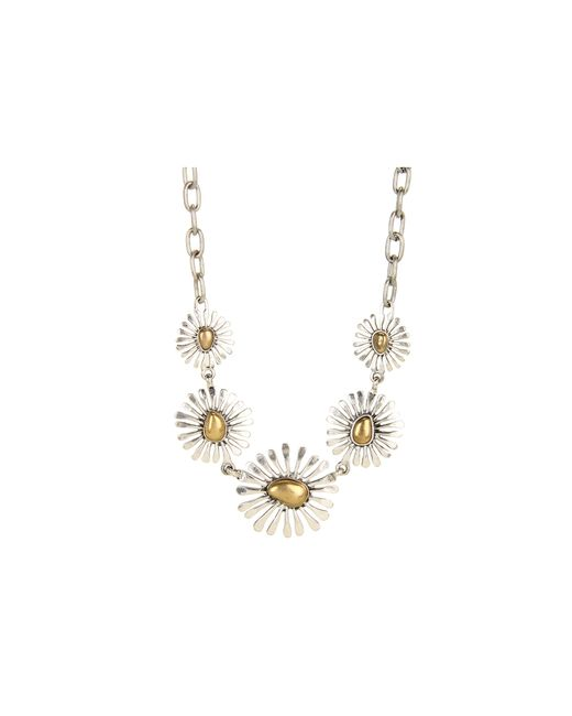Lucky Brand   Metallic Floral Collar Necklace   Lyst