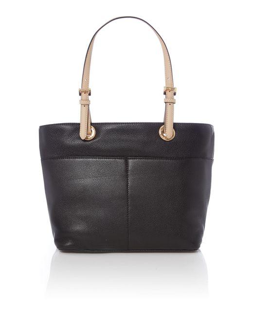 michael kors bedford black pocket tote bag in black lyst. Black Bedroom Furniture Sets. Home Design Ideas