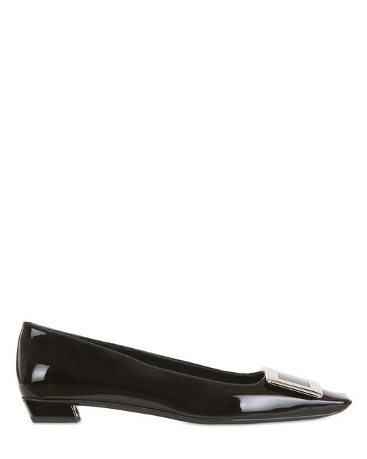 Roger Vivier | Black 25mm Belle Vivier Patent Leather Pumps | Lyst