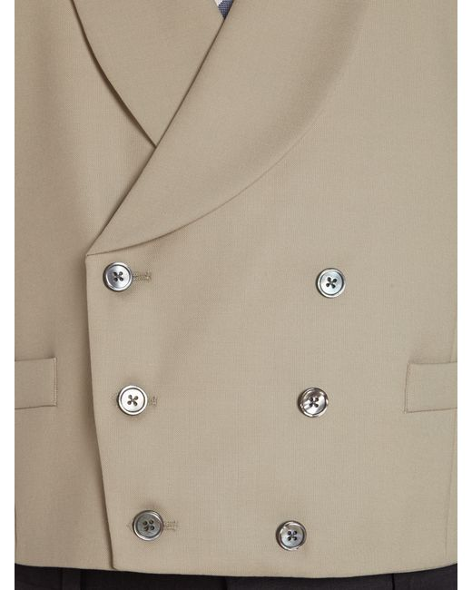 Chester Barrie | Natural Plain Tailored Fit Waistcoat for Men | Lyst
