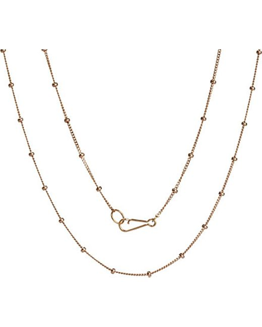 Annoushka | Metallic Classic Saturn 18ct Rose-gold Short Chain Necklace | Lyst