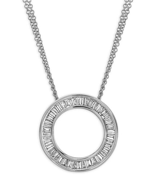 Bony Levy | Metallic 'circle Of Life' Medium Diamond Pendant Necklace (nordstrom Exclusive) | Lyst