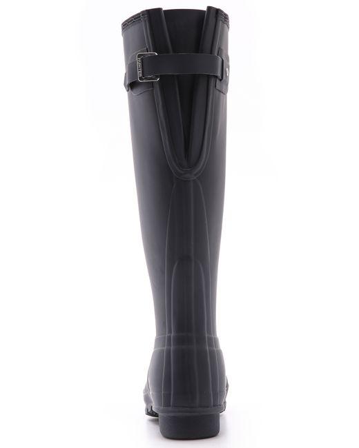 Hunter Original Back Adjustable Boots in Blue   Lyst