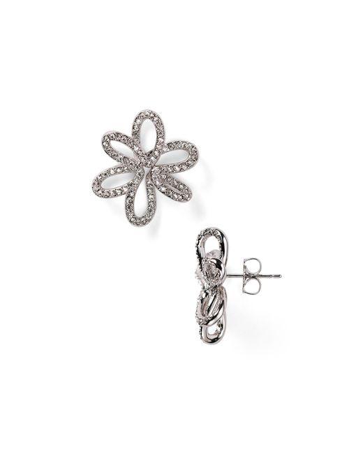 Nadri | Metallic Open Flower Stud Earrings | Lyst