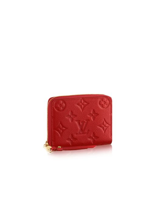 Louis Vuitton | Red Zippy Coin Purse | Lyst