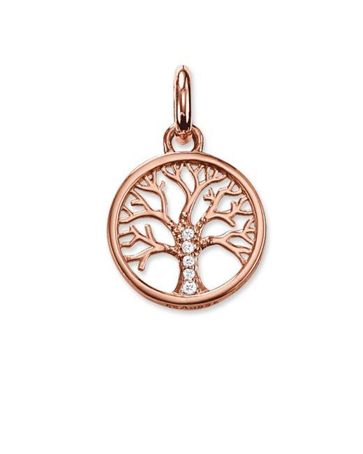 Thomas Sabo | Pink Karma Beads Tree Pendant 18k Rose Gold | Lyst