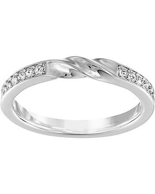 Swarovski | Metallic Curly Ring | Lyst