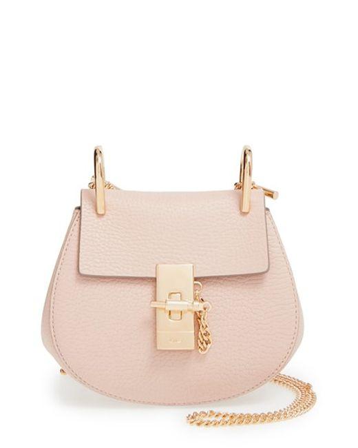 Chlo�� \u0026#39;nano Drew\u0026#39; Lambskin Leather Shoulder Bag in Pink (PLAID RED ...