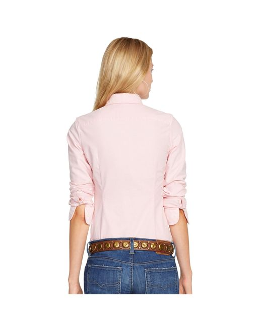 Polo Ralph Lauren | Pink Custom Fit Cotton Oxford Shirt | Lyst