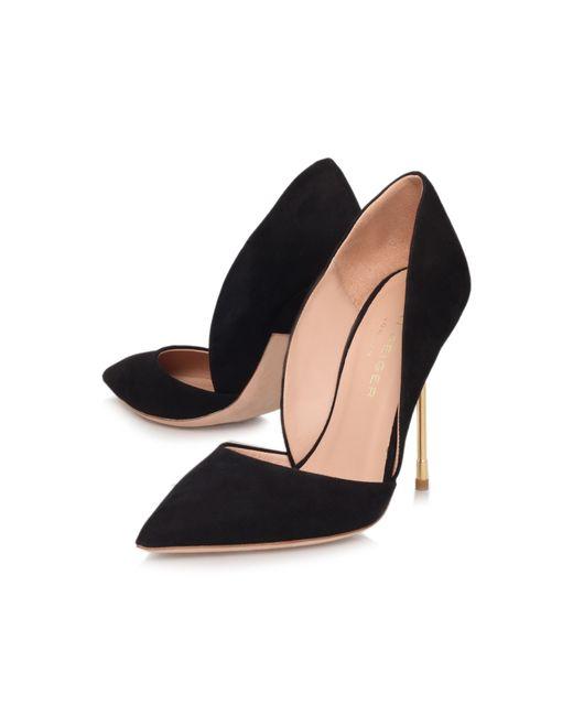 Kurt Geiger | Black Bond Ultra Slim High Heel Court Shoes | Lyst