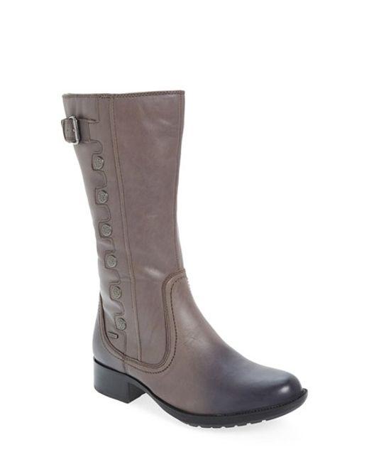 Cobb Hill | Gray 'calista' Riding Boot | Lyst